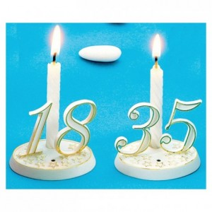 Box of 100 white twisted candles