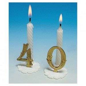 Gold birthday candle 2 (10 pcs)
