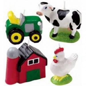 Bougies animaux de la ferme Wilton 4 pièces
