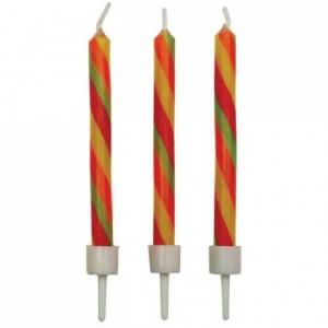 Bougies Candy Stripes PME 10 pièces