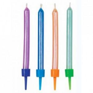 Bougies colorées à reflets nacrés Wilton 10 pièces