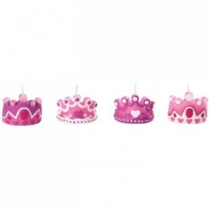Bougies en forme de couronne Wilton Rose 4 pièces