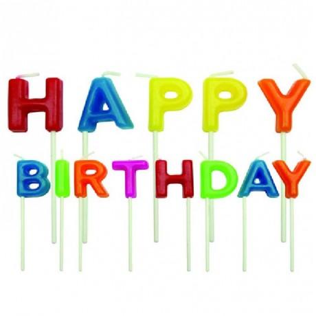 Bougies Happy Birthday PME 13 pièces