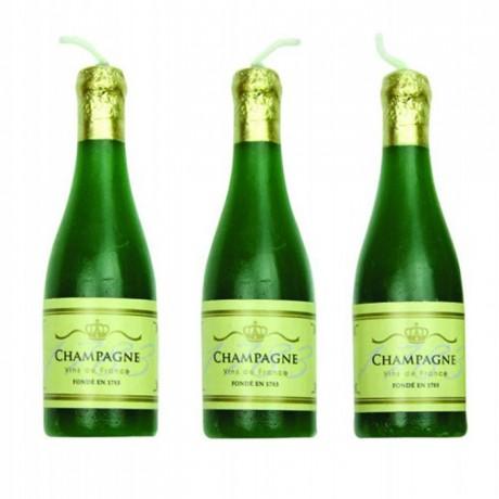 Bougies PME champagne (lot de 6)
