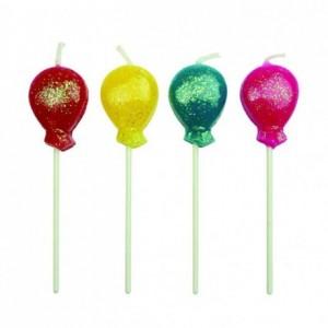 Bougies PME ballons (lot de 8)