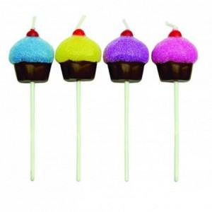 Bougies PME cupcake (lot de 8)