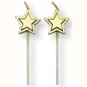 Bougies PME étoiles or (lot de 8)