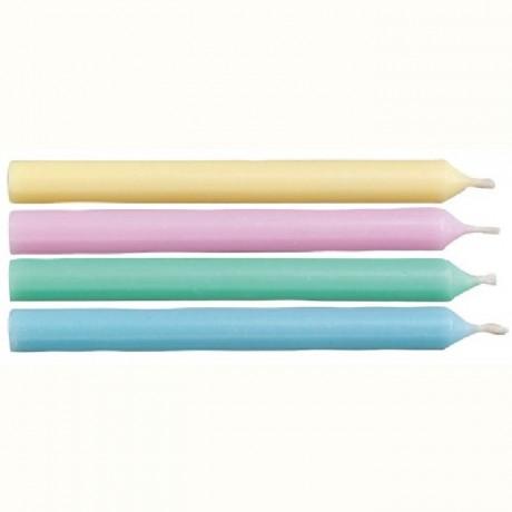Bougies rondes colorées Wilton 24 pièces
