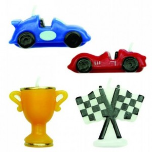 PME Candles Racing Cars Set/4