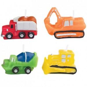 Bougies véhicules de construction Wilton 4 pièces