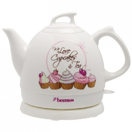 Bestron Sweet Dreams Ceramic Jug kettle Cupcake