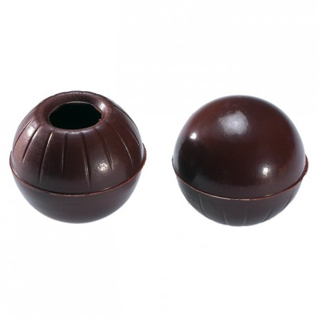 Dark chocolate hollow forms 504 pcs