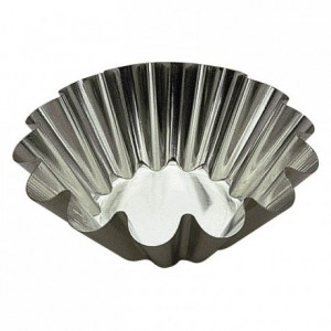 Brioche mould flat bottom tin Ø200 mm (pack of 3)