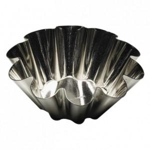 Brioche fond plat fer blanc Ø75 mm (lot de 12)