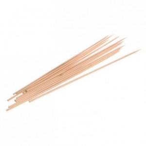 Brochette ronde bois L 300 mm (lot de 10 Boites de 100)