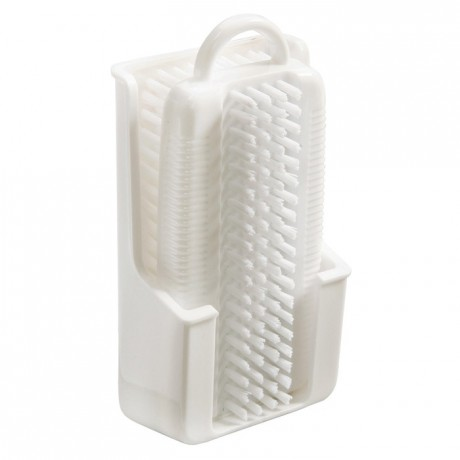 Nail brush with support