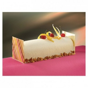 Yule log mould semi-circular PVC 570 x 80 x 65 mm (10 pairs)