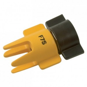 Flat jet nozzle for electrical spray guns F7S