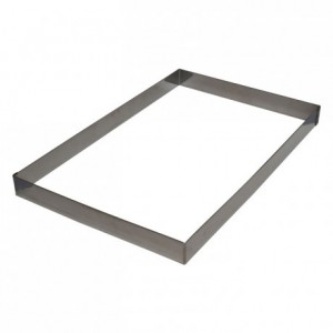 Heavy cake frame stainless steel H45 509x307 mm