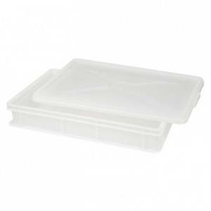 Plain stackable tray with open handle 600 x 400 x 190 mm