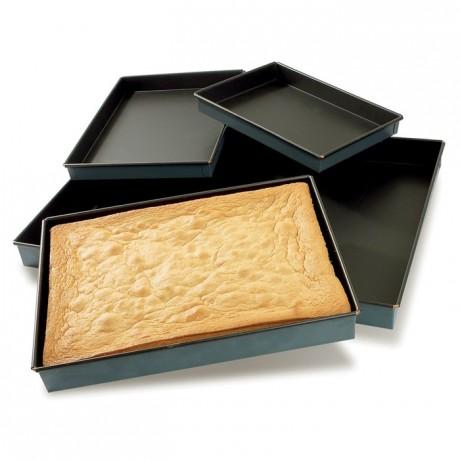 Straight genoese pan Exopan 400 x 300 x 35 mm