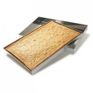 Caisse à génoise en inox 590 x 390 x 60 mm