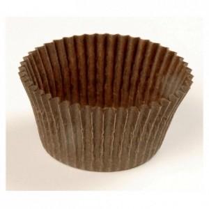 Caissette ronde plissée brune n° 1201F70 Ø 70 mm (lot de 1000)