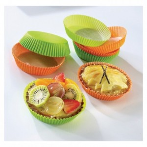 Coloured round pastry case mandarin n°1201F70 Ø 70 mm (1000 pcs)