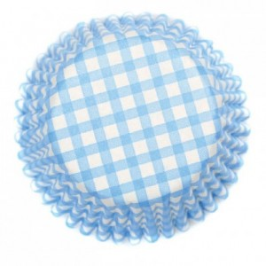 Caissettes à cupcakes Culpitt Gingham Blue 54 pièces