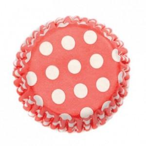 Caissettes à cupcakes Culpitt Spot Red 54 pièces