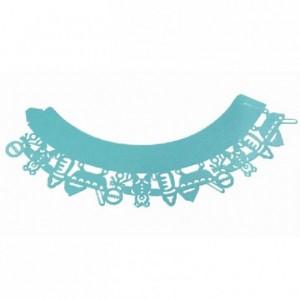 Caissettes dentelle PME Baby Blue 12 pièces