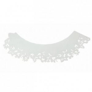 Caissettes dentelle PME Flowers White 12 pièces