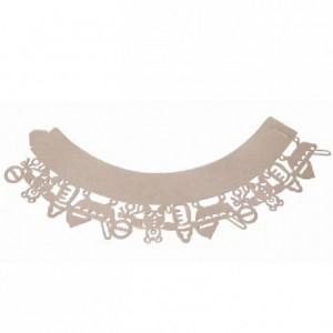 Caissettes dentelle PME Baby Pink 12 pièces