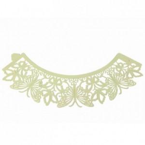 Caissettes dentelle PME Butterfly Ivory 12 pièces