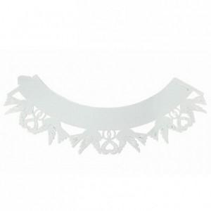 Caissettes dentelle PME Dove White 12 pièces