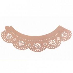 Caissettes dentelle PME Rose Pink 12 pièces