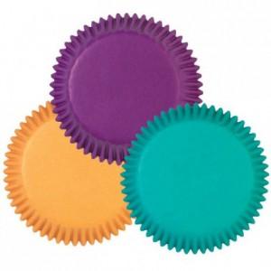 Wilton Mini Baking cups Assorted Jewel Colors pk/100