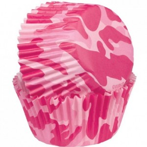 Wilton Mini Baking Cups Pink Camo pk/100
