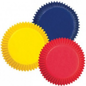 Caissettes mini Wilton Primary Colors Assorted 100 pièces