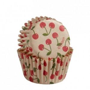 Caissettes mini Wilton Unbleached Cherry 100 pièces