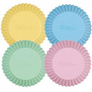 Wilton Silicone Baking cups Pastel pk/12