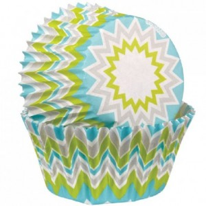 Wilton Baking Cups Chevron Lime pk/75