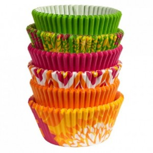 Wilton Baking Cups Neon Florals pk/150