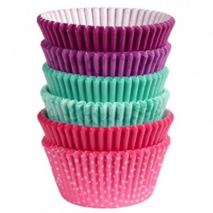 Wilton Baking Cups Pink, Turquoise, Purple pk/150