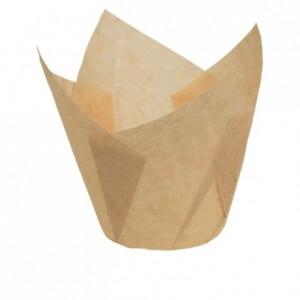 Caissette Tulipcup papier écru Ø 50 x 70 mm (lot de 200)