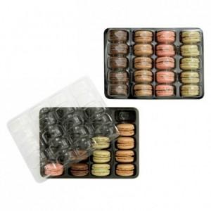 Calage pour 20 macarons noir et cristal