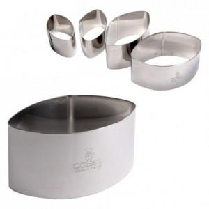 Calisson inox H30 53x30 mm (lot de 6)