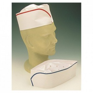 Adjustable white paper cap (1000 pcs)