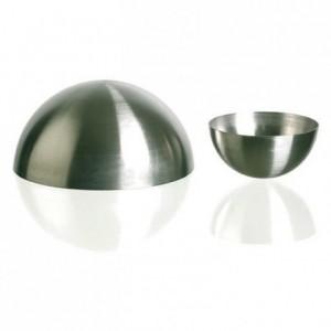 Hemisphere mould stainless steel Ø 80 mm H 40 mm