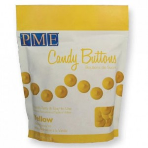 Candy Buttons PME jaune 340 g